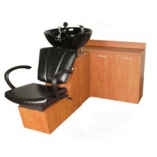 Sean Patrick 44SWS Shuttle Sidewash Sliding Chair Tilting Shampoo Bowl Plus Storage Cabinets From Collins