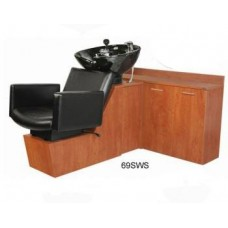 Cigno 69SWS Shuttle Sidewash Sliding Chair Tilting Shampoo Bowl Plus Storage Cabinets From Collins