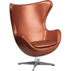 Free Shipping Copper Egg Style Reception Chair