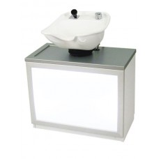 Single Pearl PRL54-HPL Backwash Unit From Belvedere With Tilting Enamel Shampoo Bowl