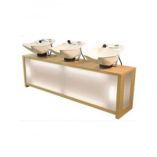Triple Pearl Backwash PRL54-3 With 3 Tilting Porcelain Enamel Shampoo Bowls