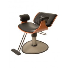 MO11A-HPL Mondo Wood Reclining Styling Chair Your Choice Color, Base & Footrest