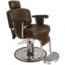 9010 Continental Barber Chair With Stationary Footrest