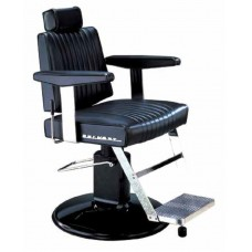 Dainty BB-405 Barber Chair With SL-85 Black or Chrome Barber Base