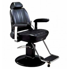 Sportsman BB-141 Barber Chair With SL-85 Black or Chrome Barber Base