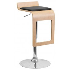 2075 Beech Bentwood Padded Make Up Stool 26-34''H FREE SHIPPING