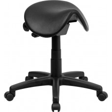 915 Black Saddle Ergonomic Task Stool 18 to 22 Inch High From Italica