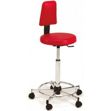 765 Grillo Bike Seat Hair Cutting Stool With Backrest 23 to 33 Inch Lift USA Made by Pibbs