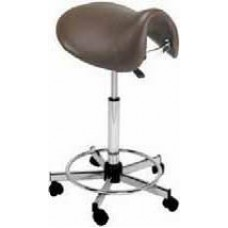 778 High Saddle Hair Cutting Stool With Backrest 23 to 33 Inch Lift USA Made by Pibbs