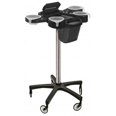 Service Plus Hair Coloring Trolley With Foiler & Trash Can Large Wheels Friom Ceriotti, Italy