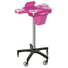 Service Plus Violet Hair Coloring Trolley With Foiler & Trash Can Large Wheels Friom Ceriotti, Italy