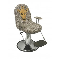 Giraffe Bucket Style Children's Jungle Style Hair Salon Styling  Chair  With Hydraulic Base and Seat Belt