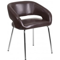 Free Ship Brown Leather Reception Chairs High Quality Low Cost