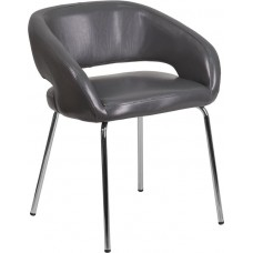 Free Ship Grey Leather Reception Chairs High Quality Low Cost