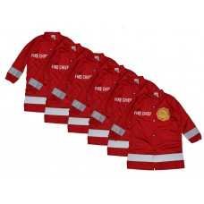Fire Chief Cape 6 Pack For Cutting Kids Hair in Hair Salons