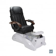 Free Ship Pipeless Pedicure Spa With Full Massager Chair Top White Base With Glass Bowl and Many Chair Top Colors Order Now