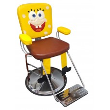 Yellow Sponge Kids Styling Chair With Seat Belt Perfect For At Home Hair Cuts