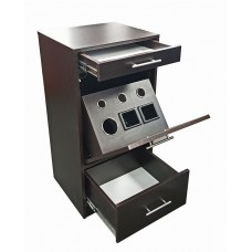 Italica 6068 Charlie Styling Station With Tilt Out Tool Panel Black or Dark Chocolate