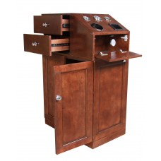 5001 Cherry Wood Veneer Hair Styling Station On Hidden Casters In Stock From Italica