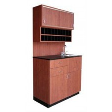 3388-36 Small Cameo Hair Coloring Center With Stainless Steel Sink 36W x 21D x 79H From Collins