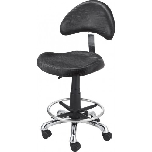 Free Shipping Italica 3323 Aero Task or Manicure Stool With Footrest Ring