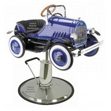 Jalopy Blue Classic Childrens Styling Chair Car With Your Choice of Base