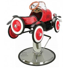 Jalopy Red Classic Childrens Styling Chair Car With Your Choice of Base