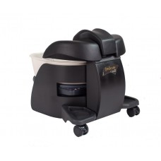 Deluxe Pedicute Package Portable Spa, Deluxe Tech Chair with Black Cushion, 300 Liners & Accessory Cart