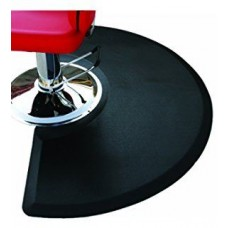 3X5 Heel Proof Vegas Style Half Circle Salon Anti Fatigue Hair Salon Mat
