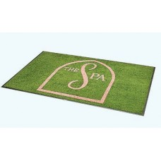 3 X 10 Foot Logo Entrance Mat Choose From 27 Colors For Your Salon or Barber Shop