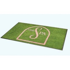 4 X 6 Foot Logo Entrance Mat Choose From 27 Colors For Your Salon or Barber Shop