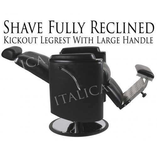 Italica Barrel Barber Chair 8552 With Choice of Barber Base, In Stock Item!