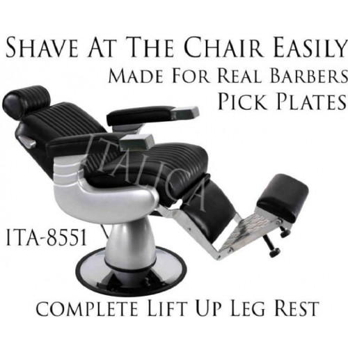 ITALICA 8551 Arrow Barber Chair With Oversized Base Black Only