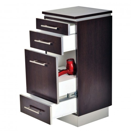 PIbbs Hair Styling Station With Toe Kick Plus Tool Panel
