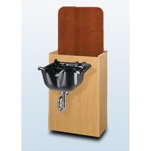 TAK-SL250 Lift Lid Shampoo Bowl Cabinet Bulkhead With Product Well