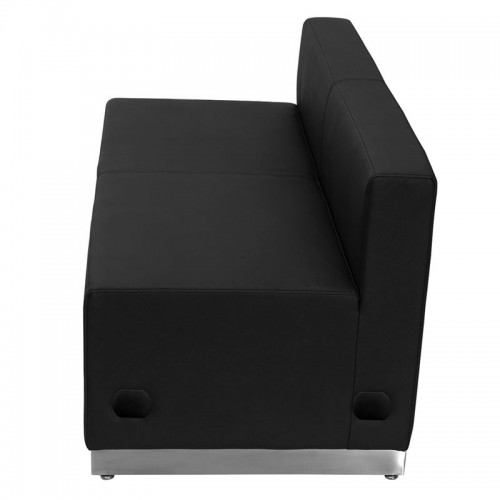 Free Shipping 803 Reception Waiting Room Loveseat Sofa Black