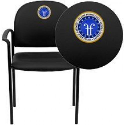 515 Italica Black Vinyl Salon Waiting Room Reception Chair