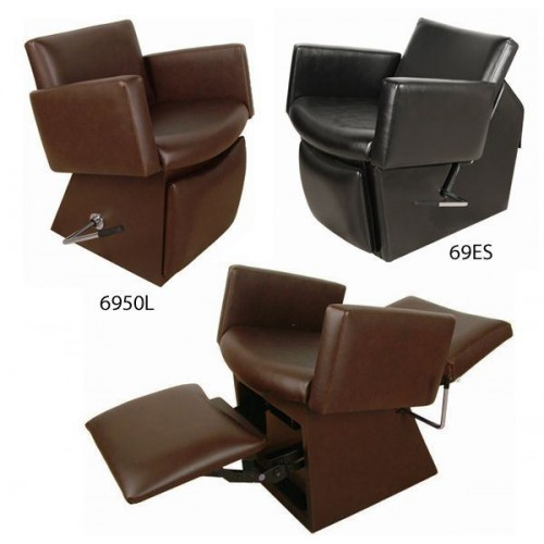 Collins 6950L Cigno Shampoo Chair With Locking Leg Rest & 135 Chair Colors