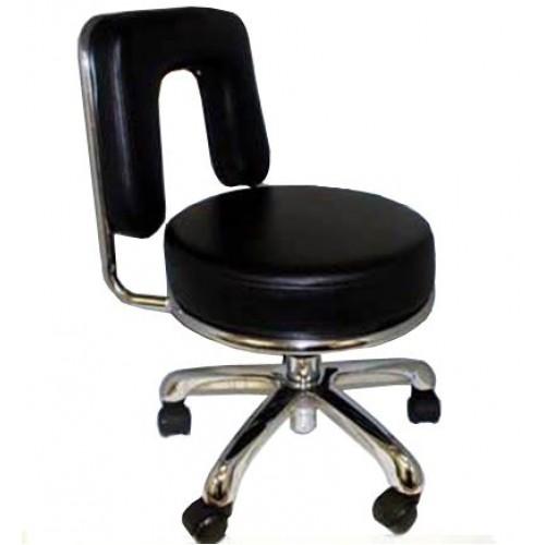 Italica 3104a Elsa Black Large Seat Pedicure Stool Free