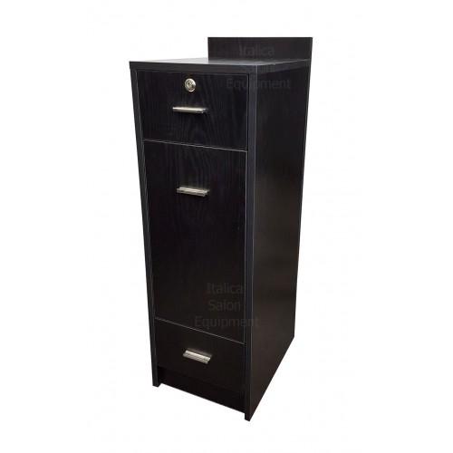 "Italica CS67-2 12"" Wide Hair Salon Cabinet Tool Drawer Locking Dark Chocolate"