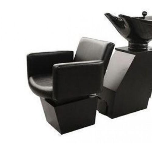 QSE 18SWS Shuttle Sidewash Sliding Chair Tilting Shampoo Bowl Plus Storage Cabinets From Collins
